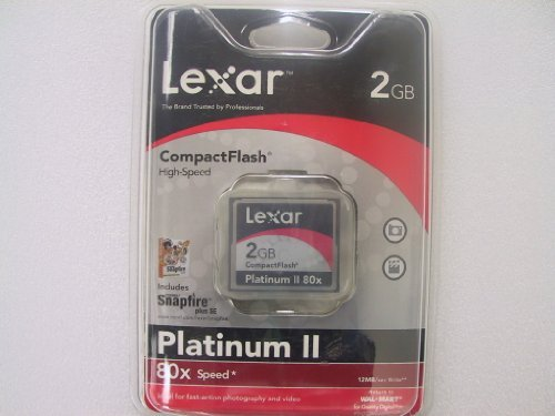 Lexar 2GB Compact Flash Card Platinum II 80x CF CARD High Speed