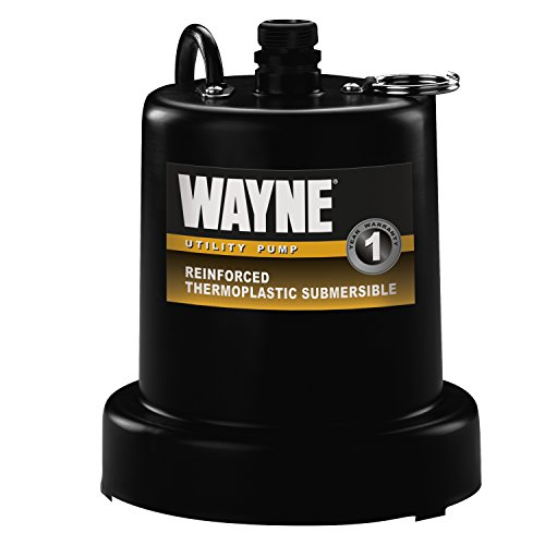 (WAYNE TSC160 1/6 HP Reinforced Submersible Thermoplastic Water Removal Pump with 3/4 in. Discharge)
