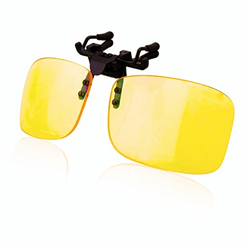 Blue Light Blocking Glasses Clip On Computer Eyewear,UV Blocking Sunglasses Clip [Anti-eyestrain] for PC Game/Computer/Cell Phone/TV Reading Protective - Glasses To Computer Screen Glare Reduce