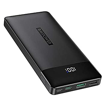 RAVPower Moveable Charger 15000mAh PD3.0 Energy Financial institution QC 3.0, 18W Excessive-Velocity Extremely Compact USB C Battery Pack Tri-Enter and Tri-Output Appropriate iPhone 8/11/12/XS/XR/XS, iPad, Samsung Galaxy and Extra