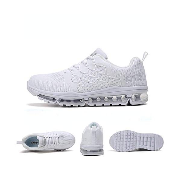 Uomo Donna Air Scarpe da Ginnastica Corsa Sportive Fitness Running Sneakers Basse Interior Casual all'Aperto 34-46 EU… 2