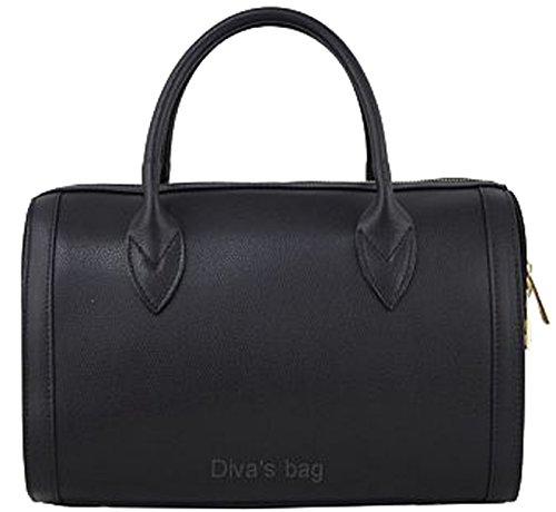 G&G PELLETTERIA - Bolso de asas de Piel para mujer negro