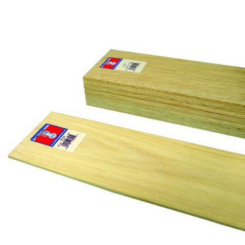 Midwest Products 6405 Micro-Cut Quality Balsa 36-Inch Sheet Bundle, 0.1875 x 4 Inches