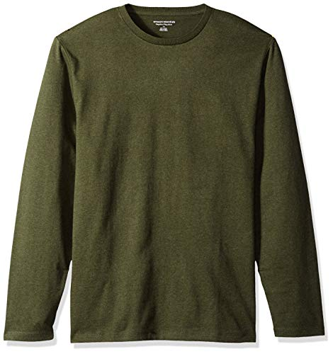 Amazon Essentials Men's Regular-Fit Long-Sleeve T-Shirt, Olive Heather, XX-Large