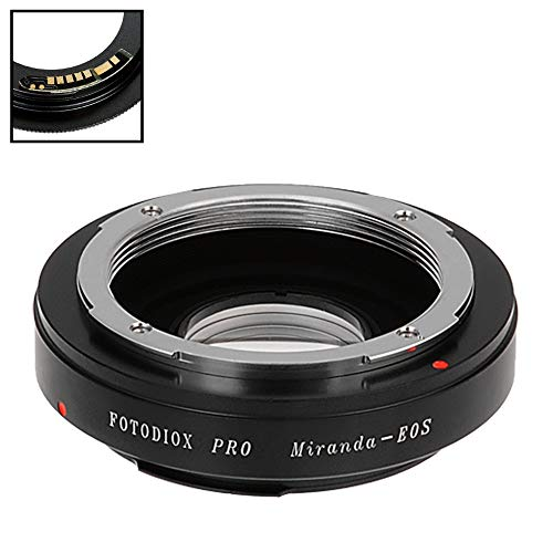 Fotodiox Pro Lens Mount Adapter Compatible with Miranda (MIR) SLR Lens to Canon EOS (EF, EF-S) Mount D/SLR Camera Body - with Gen10 Focus Confirmation Chip