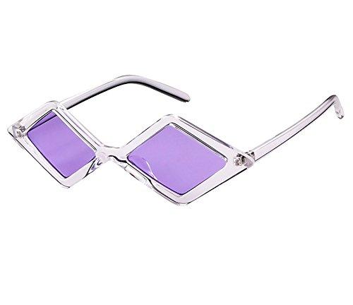 WANGKEAI 3 Sol De Gafas Gafas Sol Cristal Vintage De Diamantes Shadow Polígono De De 2 Y Hombre Mujer Gafas para De 90S Sol Retro Transparente De rYrW4