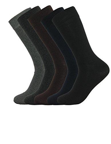 Mens Dress Socks 5 Pack Cotton Dress Socks In Assorted Colors -5 Pair (10-13, Assorted Solid) (Men In Socks)
