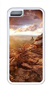 iPhone 5C Case and Cover - Mountain Views Cool TPU Case Cover Protector For iPhone 5C - White