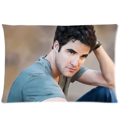 Custom Darren Criss Pattern 03 Pillowcase Cushion Cover Design Standard Size 20X30 Two - Criss Home Darren