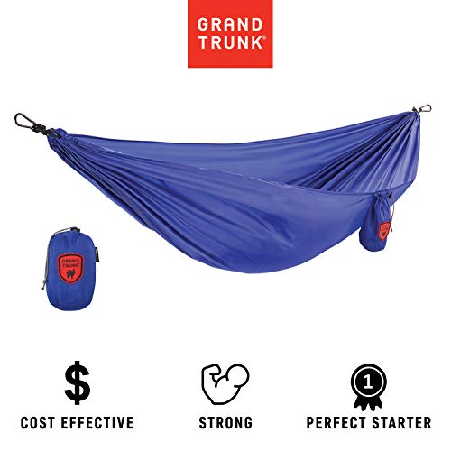 Grand Trunk Ultralight Hammock: Portable Camping, Hiking, Backpacking, and Travel Hammock: Perfect Starter Hammock, Royal Blue