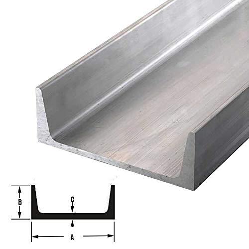 "Aluminum Channel 6061 3/"" x .258/"" American Standard x 48/"""
