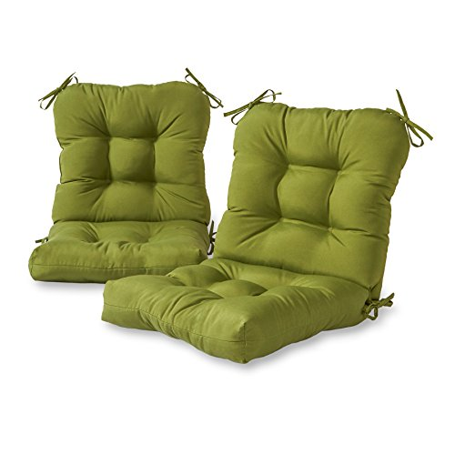 Greendale Home Fashions Outdoor Seat/Back Chair Cushion (set of 2), Hunter -
