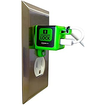 iChargerlock - The ONLY Apple iPhone Charger & Cord Lock-No One will take your Charger AGAIN! Lock Your Charger into your Outlet!