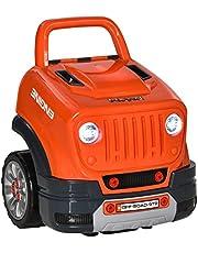 Qaba Kids Truck Engine Toy Set, Educational Car Service Station Playset, Take Apart Workshop, w/ Steering Wheel, Horn, Light, RC Car Key, for 3-5 Years Old Orange