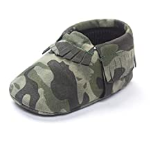 GQMART Baby Tassels Sneakers Camouflage Soft Sole Crib Shoes