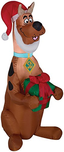 Airblown Scooby With Present (Christmas Doo Inflatable Scooby)