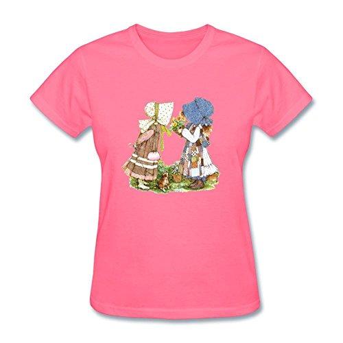 Kittyer Women's Holly Hobbie Design Cotton T Shirt XXL Holly Hobbie Clothes