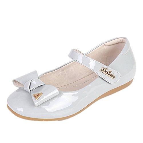 Kim Kardashian Costume Ideas (PRETTYHOMEL Party Shoes Girl's Shoes Girls Dress Princess Outdoor Ballet Flat Shoes(Toddler/Little Kid) (Grey 35/3 M US Little)