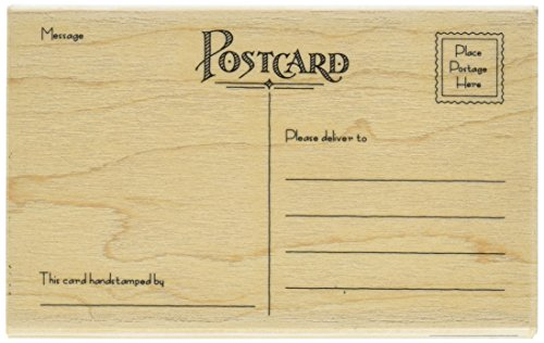 "Penny Black 1369L Postcard Mounted Rubber Stamp, 5.5"" by 3.25"", Red"