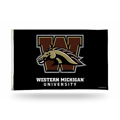 Rico Industries NCAA Western Michigan Broncos 3-Foot by 5-Foot Single Sided Banner Flag with ()