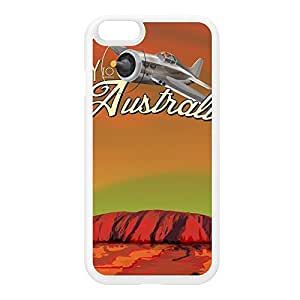 Australia White Silicon Rubber Case for iPhone 6 by Nick Greenaway + FREE Crystal Clear Screen Protector
