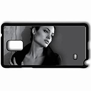 taoyix diy Personalized Samsung Note 4 Cell phone Case/Cover Skin Angelina Jolie Black
