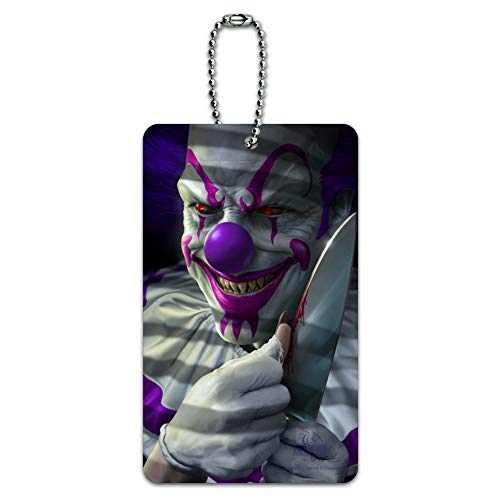 Mischief the Evil Purple Clown Luggage Card Suitcase