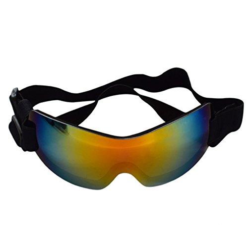 Meisijia Protezione usura dell'animale domestico UV di protezione degli occhiali da sole senza orlo degli occhi con cinghia regolabile per il grande cane AgHZ41IxyG