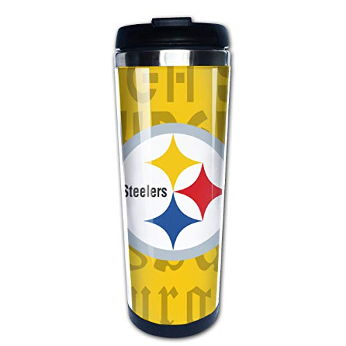 Jacoci Pittsburgh Steelers Double Wall Coffee Mug Vacuum Cup Travel Flask For Hot & Cold Drinks,10oz(400ml)