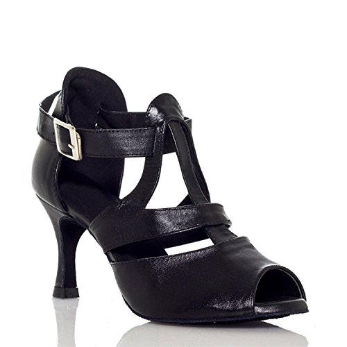 Strap Sandals 5cm Latin MY Leather Miyoopark Buckle L027 Wedding T Black Heel Ladies 7 Shoes Dance xwFWS06E