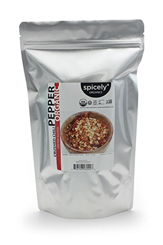 Spicely Organic Chili Crushed 1 Lb Bag Certified Gluten Free