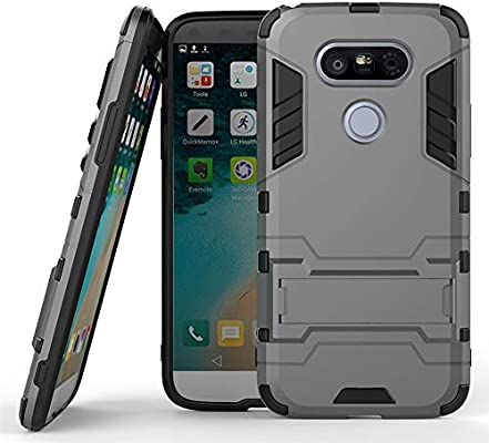 COOVY® Funda para LG G5 de plástico y Silicona TPU, extrafuerte ...