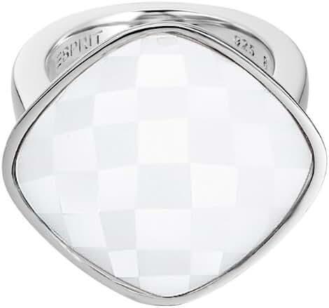 ESPRIT Women's Impressive White Ring Stainless Steel Glass 14.62 G White