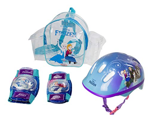 Disney Frozen Pads Elbow And Knee Guards Plus Helmet (Disney Frozen Helmet)