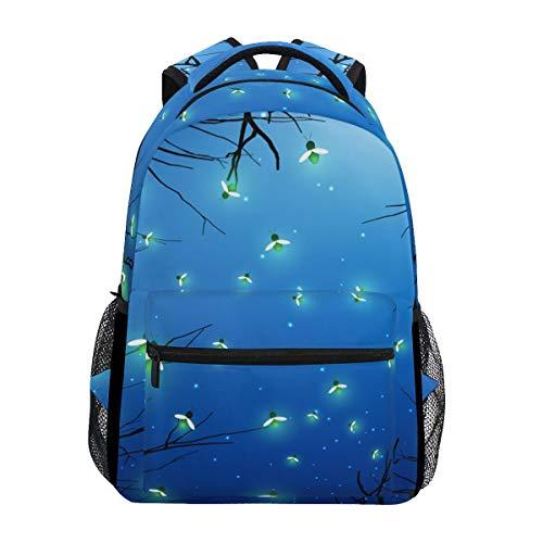 Firefly in The Jungle Fashion Print Leisure Backpack Teenage School Bag College Bookbag Lady Travel Hiking Backpack 15Inch Laptop Bag(11.5