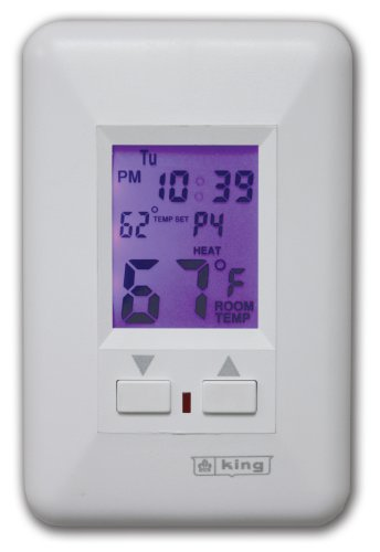 King ESP230-R Electronic Line-Voltage Programmable Thermostat, ()