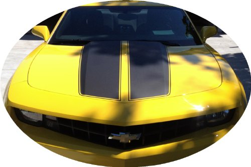 Camaro Rally Racing Stripes MATTE BLACK Satin Decal Vinyl Fits ()