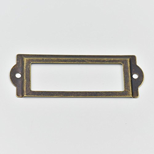 10 Pcs Home Cabinet Frame Handle Drawer Label Tag Pull File Name Card Holder Screw SizeC