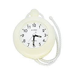 UPIT water resistance Clock with String 4.72 x 1.57 x 5.71 inch, (Ivory)