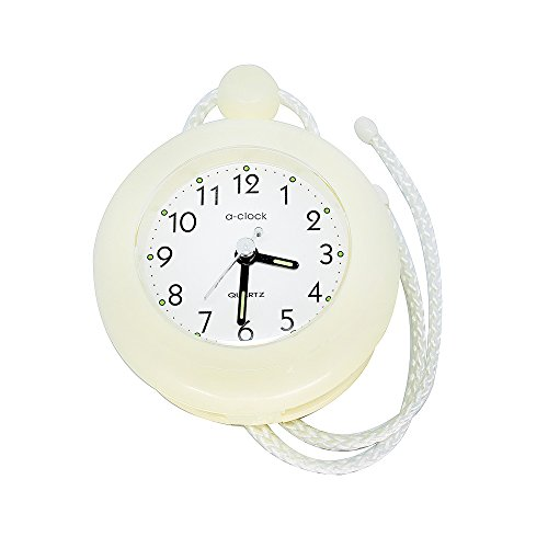 - UPIT Water Resistance Clock with String 4.72 x 1.57 x 5.71 inch, (Ivory)