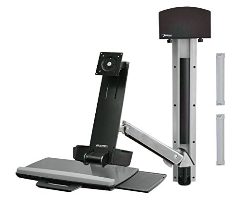 Ergotron 45-273-026 StyleView Sit-Stand Combo System (Polished Aluminum)