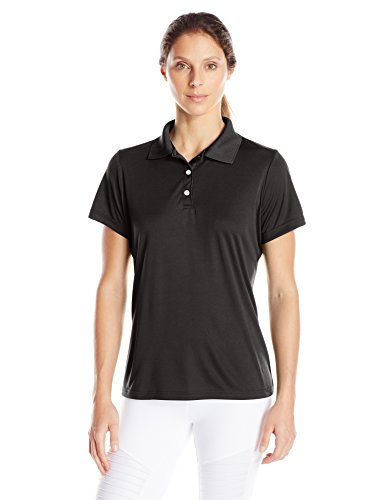 Hanes Sport Women's Cool DRI Performance Polo,Black,Large