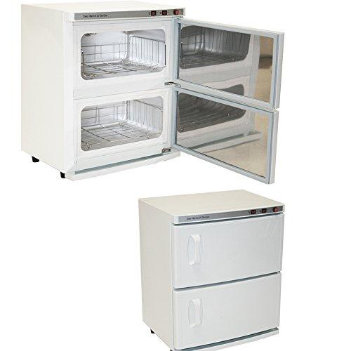 Double Hot Towel - High Capacity Double-Decker Hot Towel Cabinet & Ultraviolet Sterilizer Salon Spa Beauty Equipment