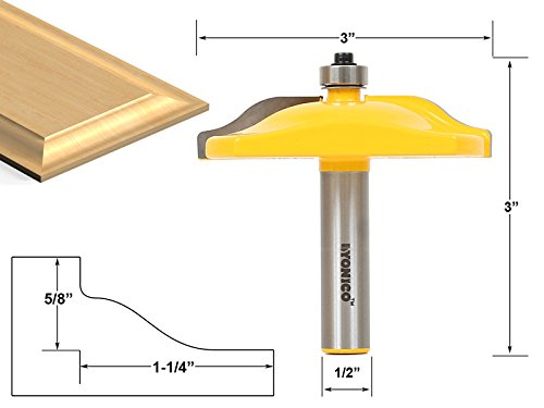 (Yonico 12136 Raised Panel Router Bit with Ogee Door 3-Inch Diameter 1/2-Inch Shank)