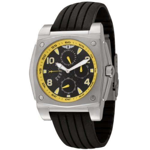 I by Invicta Men's 41698-002 Stainless Steel & Black Rubber Watch