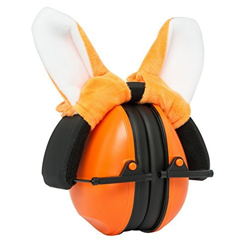 Adorable hearing protection earmuffs for babies, toddlers and kids. Easily adjustable for canceling noises and calming infants, by Growing Giants.
