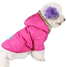 GOGO Pet Dog Winter Warm Hooded Coat, Puppy Jacket, Dog Snowsuit - Pink,XS