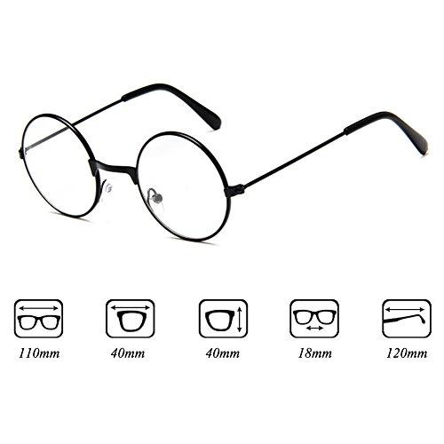 Fille Garçon lunettes rondes - Verres à lentilles transparentes Cadre Geek / Nerd Eyewear Lunettes avec boîtier en forme de voiture - hibote Or