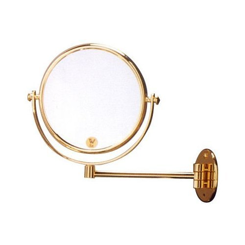 24K Gold Plated 5X Swing Arm Wall Mirror