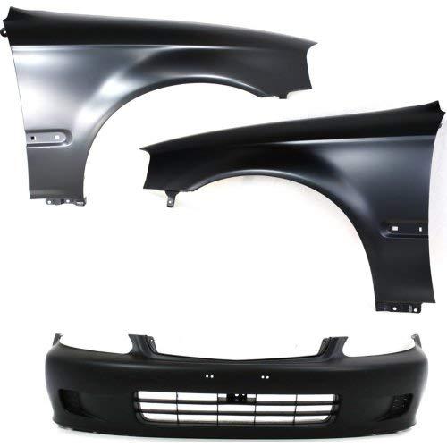 Bumper Kit Compatible with 1999-2000 Honda Civic Fender Bumper Cover